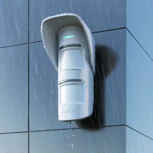 Ajax MotionProtect Outdoor Hood, strehica za zunanji senzor bela